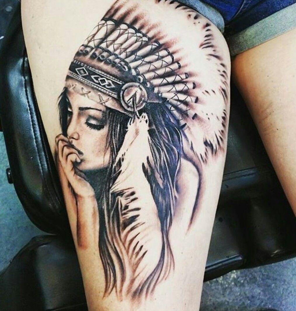 Head Tattoo Native Tattoos Tattoos Native American Girl Tattoo