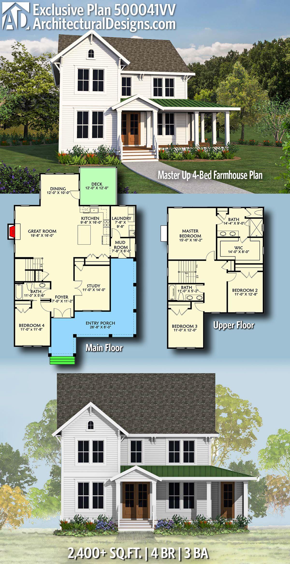 Architectural Designs Exclusive Modern Farmhouse House Plan