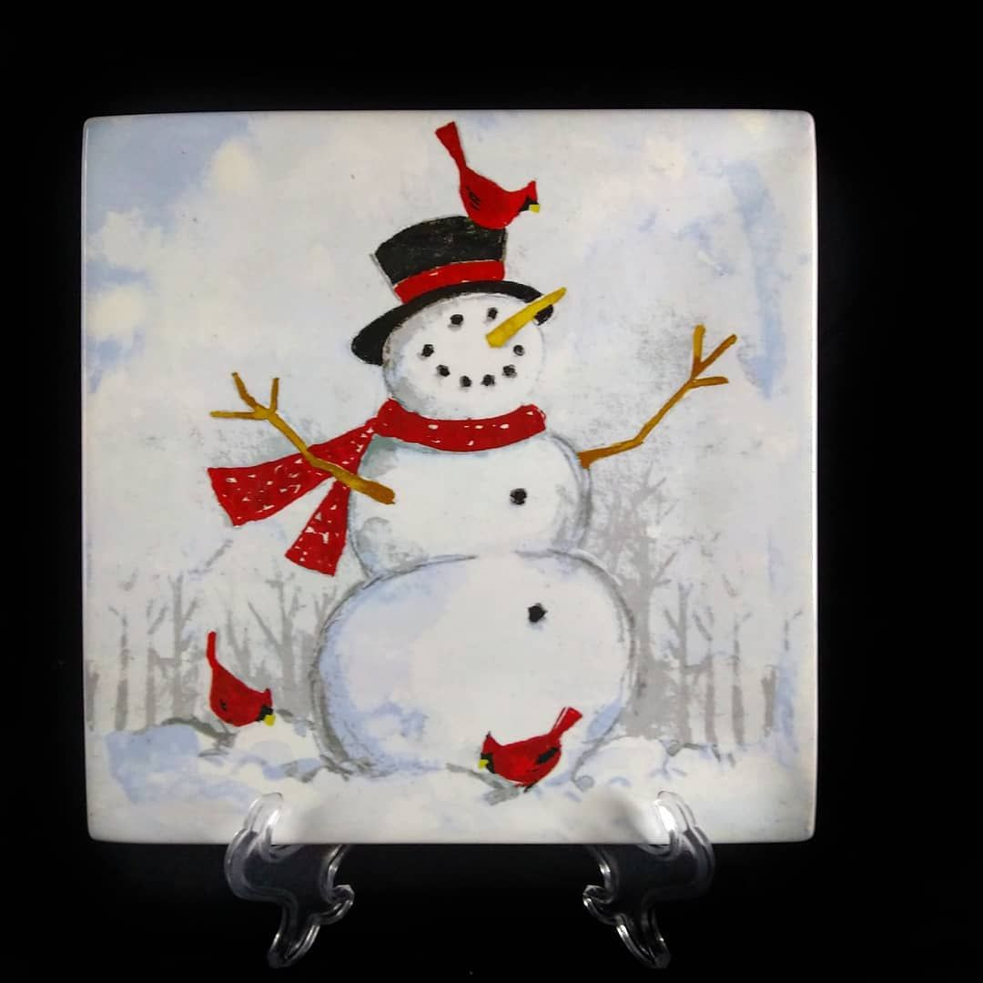 Snow Man Piring Makan Keramik Produksi Pt Sango Indonesia Fine Ceramic Material Microwave Dishwasher Safe Salad Plate Diameter 21cm Berat Kitchen In 2019 Decor Christmas Ornaments Home Decor
