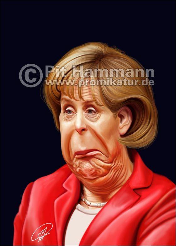 Angela Merkel | Merkel karikatur, Karikatur, Karikaturen