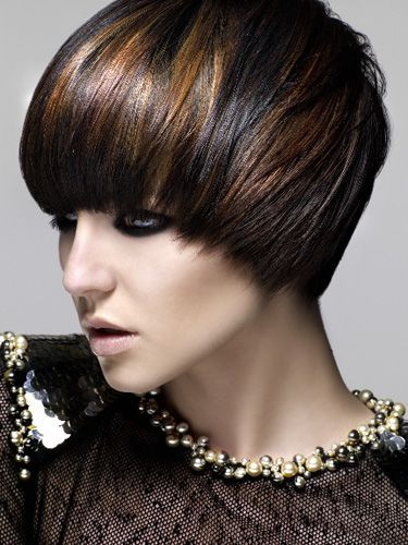 Blending in growing out pixie dark brown with copper highlights brights filaments of bronze copper and gold sparkle through inky cool darkness the dusky base provides the perfect backdrop for the warm metallic hues pmusecretfo Choice Image