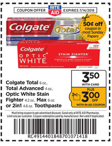 Free Colgate Toothpaste At Rite Aid With Images Colgate