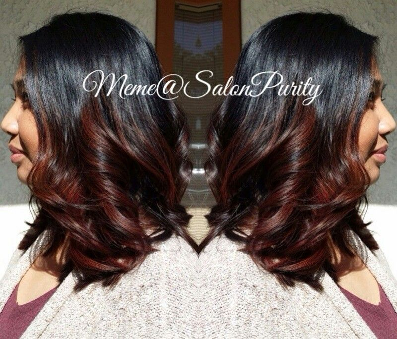 Subtle red brown balayage ombre | My work @salonpurity ...  Subtle red brow...