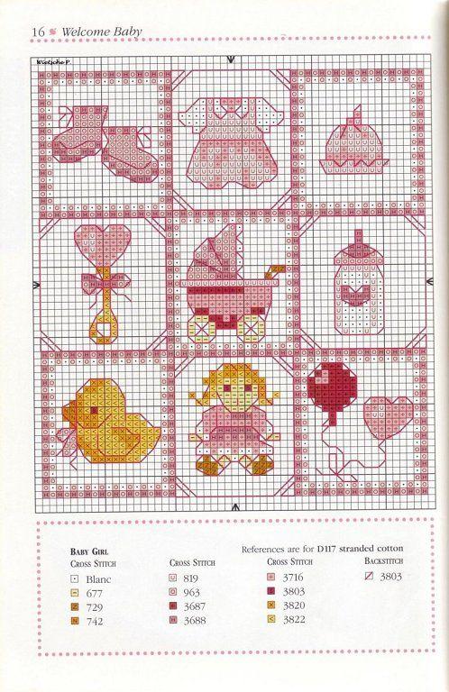 babygirl   Patrones de punto de cruz   Pinterest   Punto de cruz ...