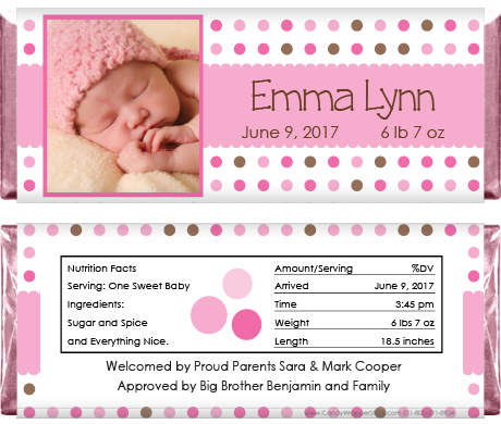 baby shower photo wrapper Chocolate Bar Candy Wrappers birth announcement YOU PRINT Baby Shower Candy Wrappers