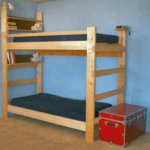 Heavy Duty Solid Wood Bunk Bed 1000 Lbs Wt Capacity Wooden Bunk