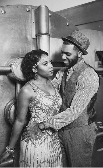 Vintage Harlem Renaissance Engagement Announcement