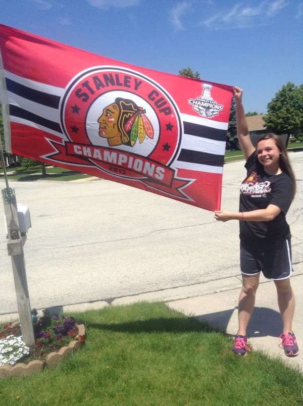 This fan is ready for Game 3 of the Stanley Cup Final! #Blackhawks