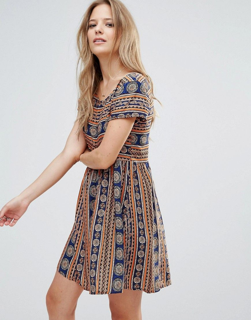 Buy It Now Brave Soul Printed Smock Dress Multi Casual Dress By Brave Soul Super Lightweight Woven Fabric Sco Fashion Casual Dresses For Women Mini Dress [ 1110 x 870 Pixel ]