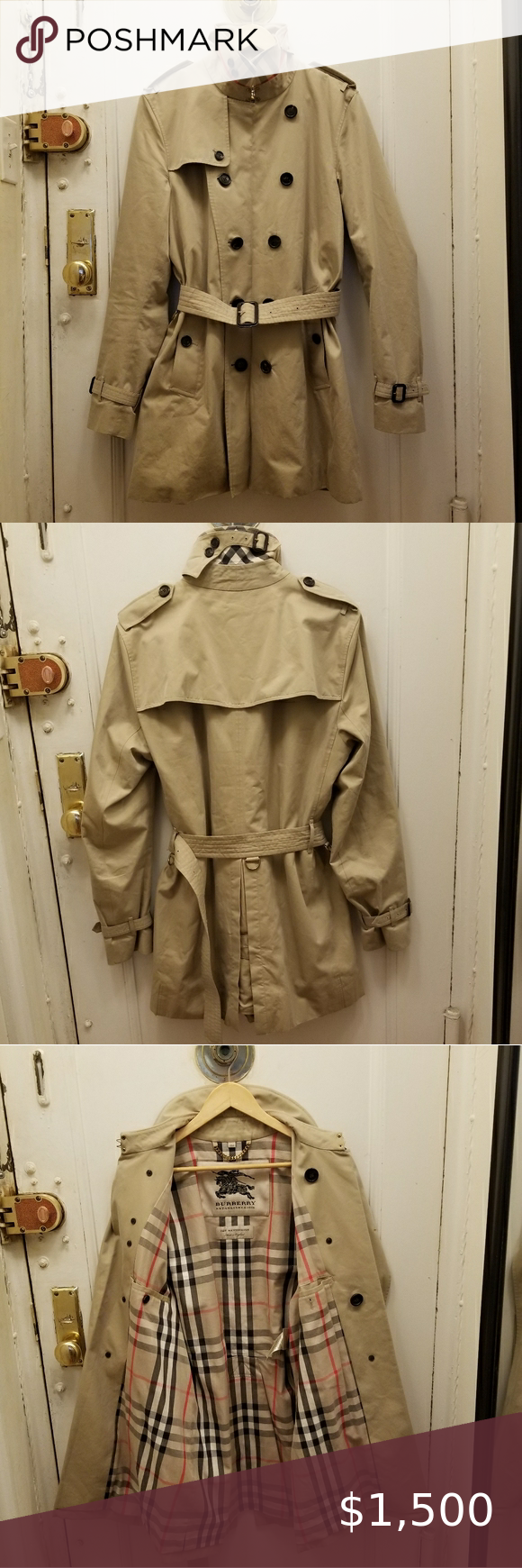 Iconic Burberry Kensington 100 Cotton Trench Coat In 2020 Clothes Design Heavy Sweaters Fashion
