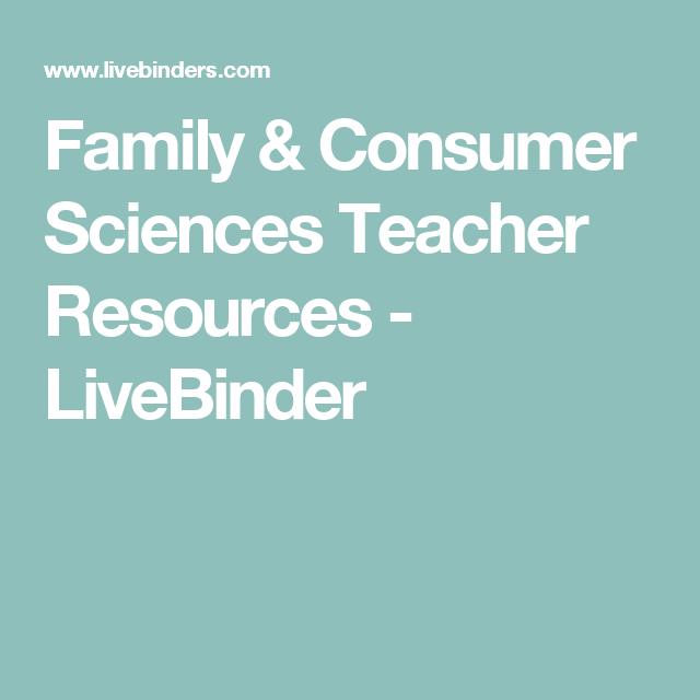 Family & Consumer Sciences Teacher Resources