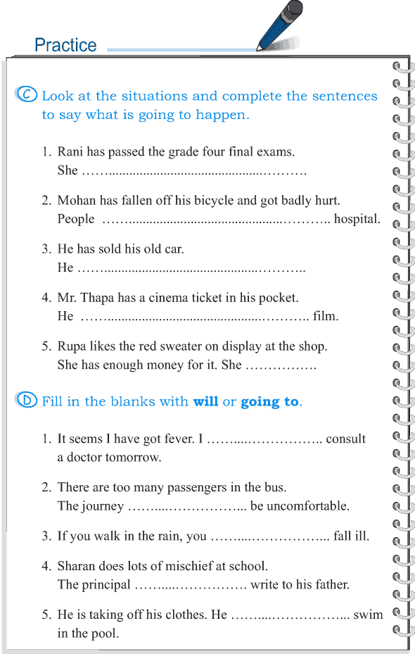 grade 5 grammar lesson 10 the future tense will and going to 4 b rnin og sk li grammar. Black Bedroom Furniture Sets. Home Design Ideas