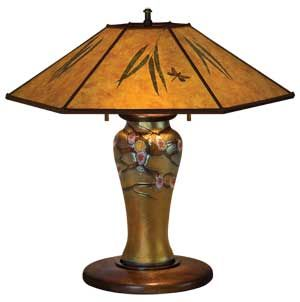 Hawthorn Lamp With Embellished Art Gl Base By William