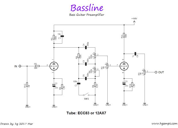Bassline Bass Guitar Tube Preamplifier Amplificador