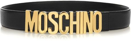 Moschino Olivia textured-leather belt | #Chic Only #Glamour Always