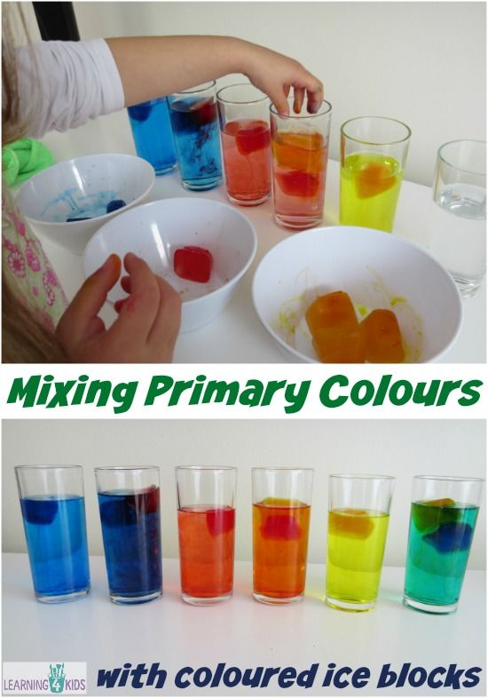 Exploring Mixing Primary Colours Activity Mixing Primary Colors Color Activities Color Lessons Color mixing projects for kindergarten