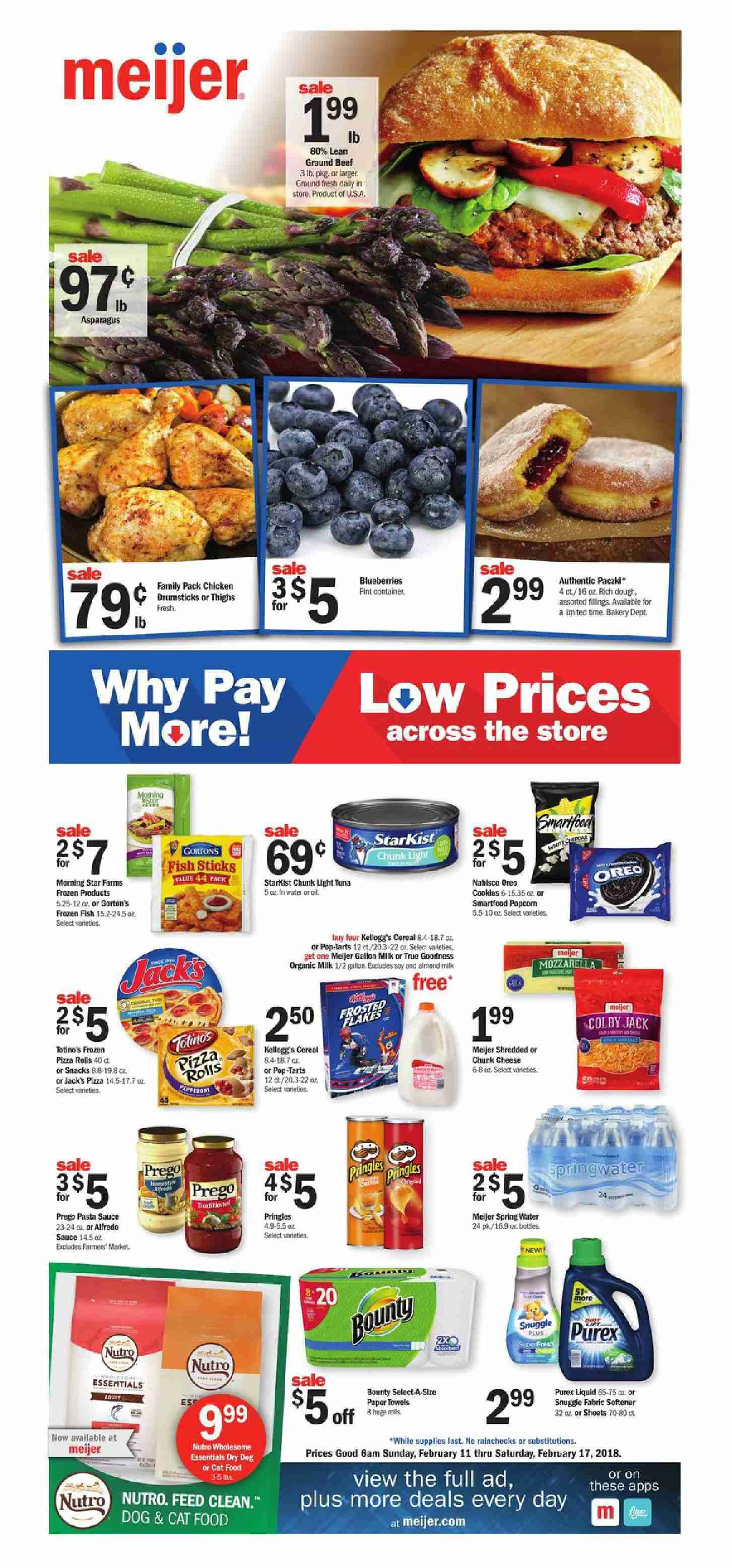 Browsing Preview Meijer Weekly Ad Flyer This Week February 11 17 2018 Customer Will Find Low Prices On All Of Your Grocery Pharmacy Gift Card