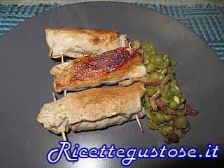 Involtini di arista alla borragine..  http://www.ricettegustose.it/Ricette_light_html/Involtini_di_arista_alla_borragine.html