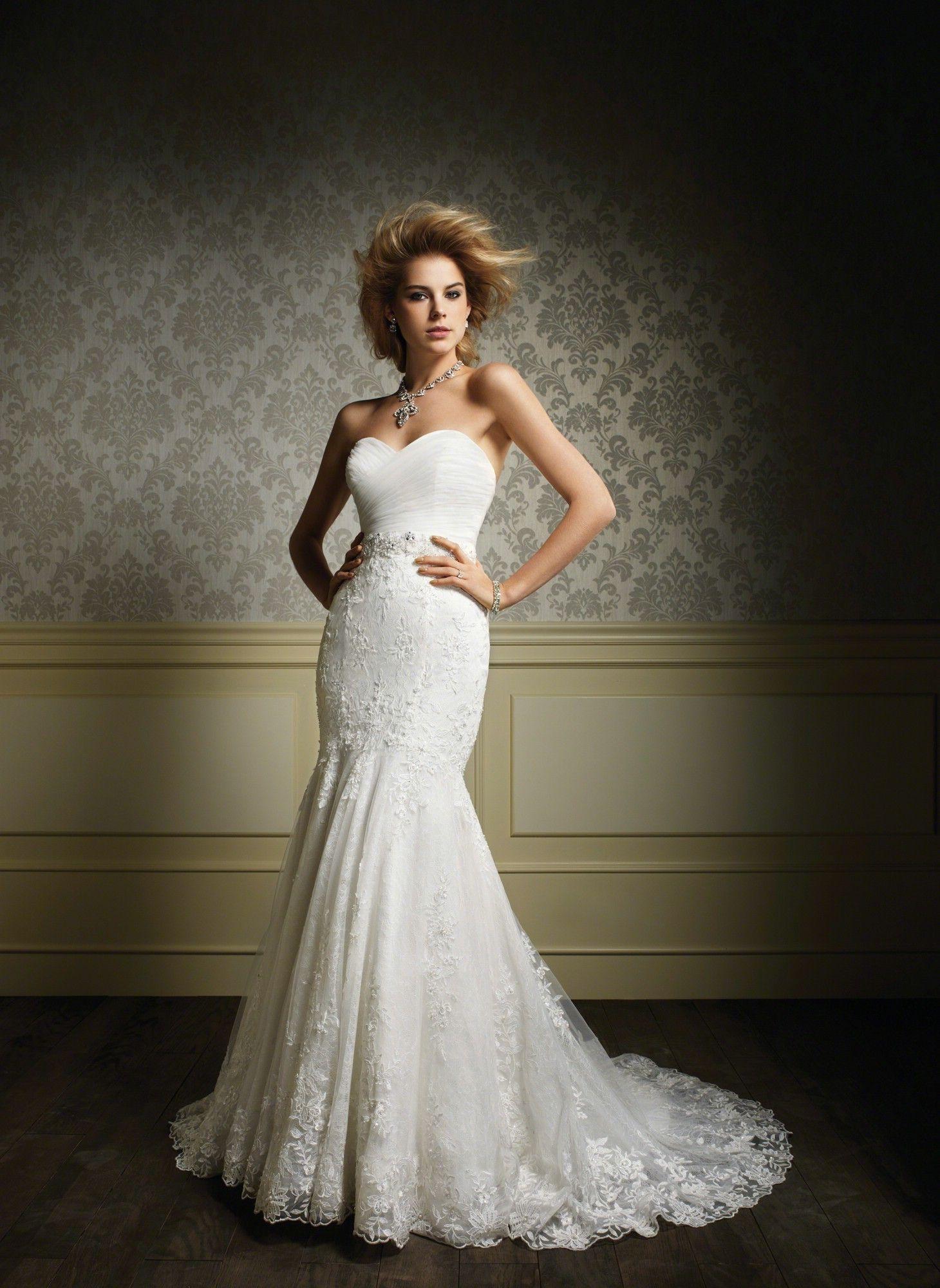 033682f9b2 Super sexy bridal silhouette ... Alfred Angelo Sapphire Wedding Dresses -  Style 887/887NB #alfredangelo #weddingdresses #vintagewedding