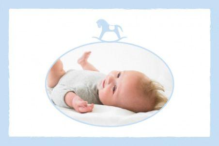 Dankeskarte Mini Pferdchen by Tomoë für Rosemood.de #Danksagung #Baby #Karte #newbaby #babygirl #babyboy