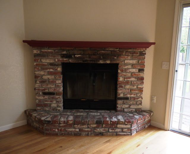 Curved Bottom Brick Fireplace Surround Kamin Gemauerter Kamin Ziegel Bemalen
