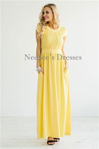 Yellow Church Dresses