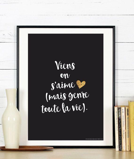 viens on s 39 aime mais genre toute la vie rooomm pinterest citation deco chambre et. Black Bedroom Furniture Sets. Home Design Ideas