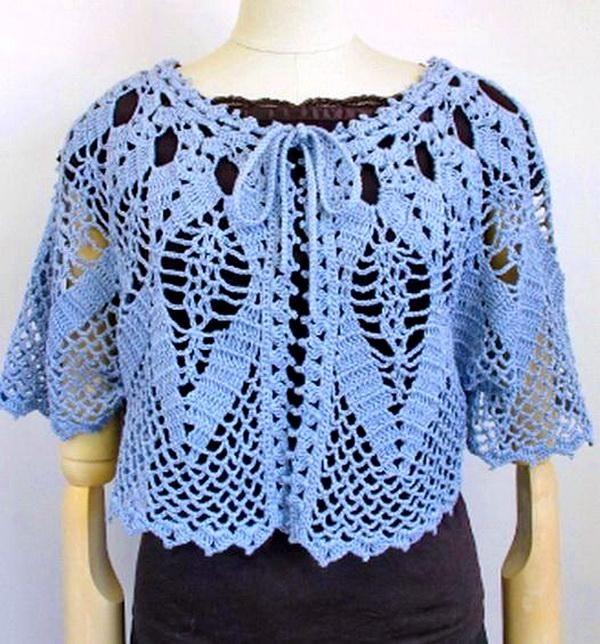 Crochet Cape Sweater For Women - Lace Cape (Crochet Shawls ...