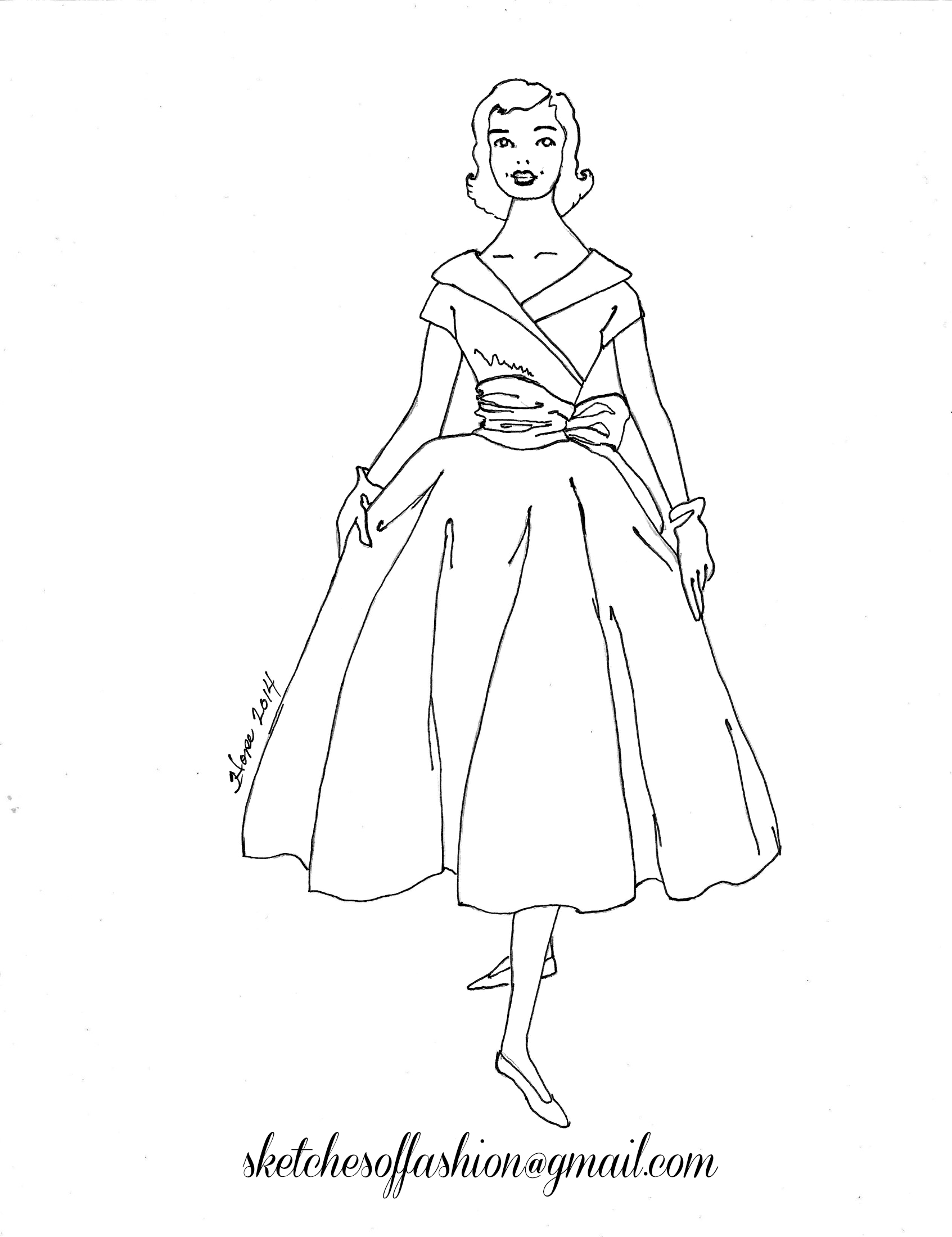 fashion design a fashion sketch colouring pagesfashion design coloring pages - Fashion Coloring Pages