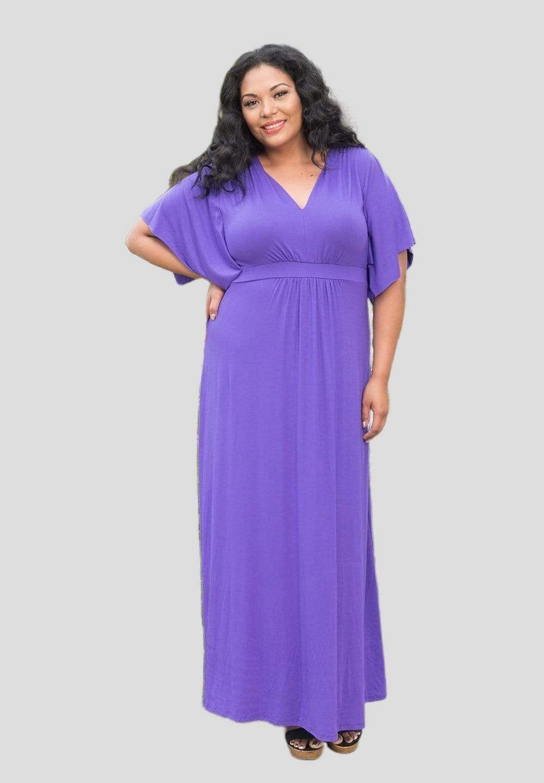 Joan Maxi Dressjoanmaxidress Purple 5x In 2021 Purple Plus Size Dresses Dresses Maxi Dress [ 1440 x 1000 Pixel ]