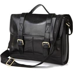 Schwarze Ledertasche Principal Delton Bags