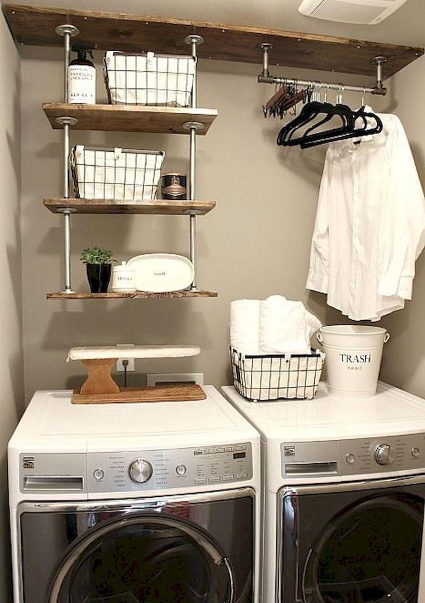50 Farmhouse Laundry Room Storage Decor Ideas Tiny Laundry Rooms