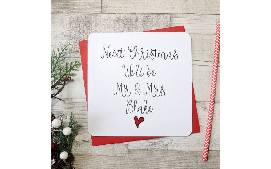 Christmas Cards That Will Make Your Fiance Or Fiancee Smile