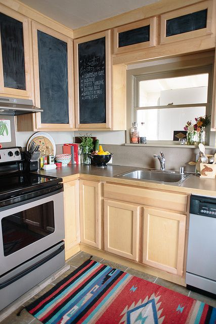 Delightfully Tacky   Chalkboard Contact Paper On Cabinets   Easy, Removable