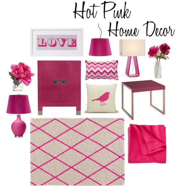 Hot Pink Home Decor By Carlyahlman On Polyvore