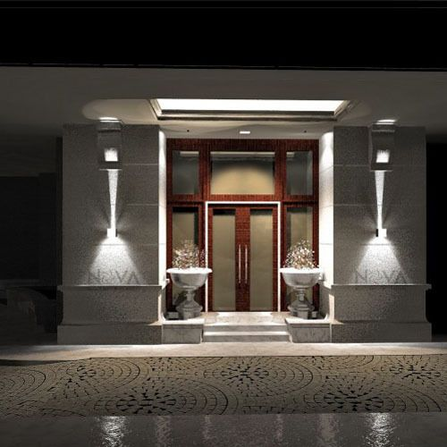 Cree luz de la pared exterior led up down apliques de for Apliques iluminacion exterior