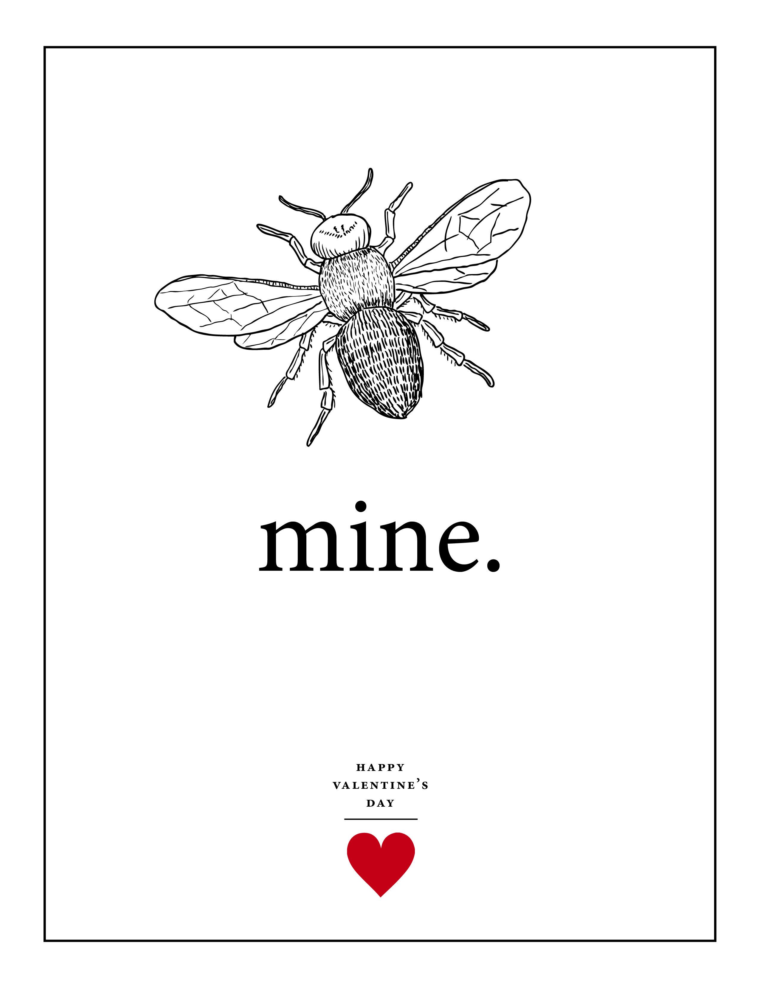 Bee Mine Valentine S Day Printables