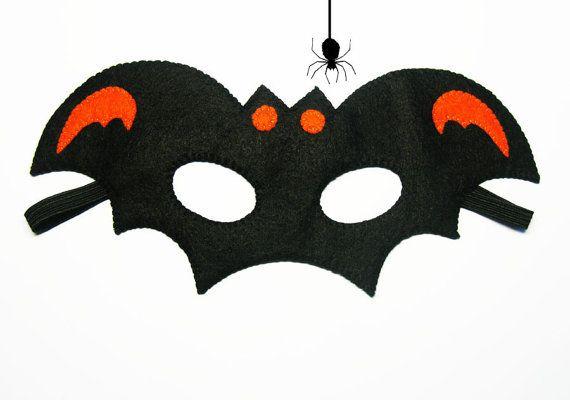 Halloween Masks For Kids.Bat Halloween Mask Party Favor Orange Black For Kids Boy