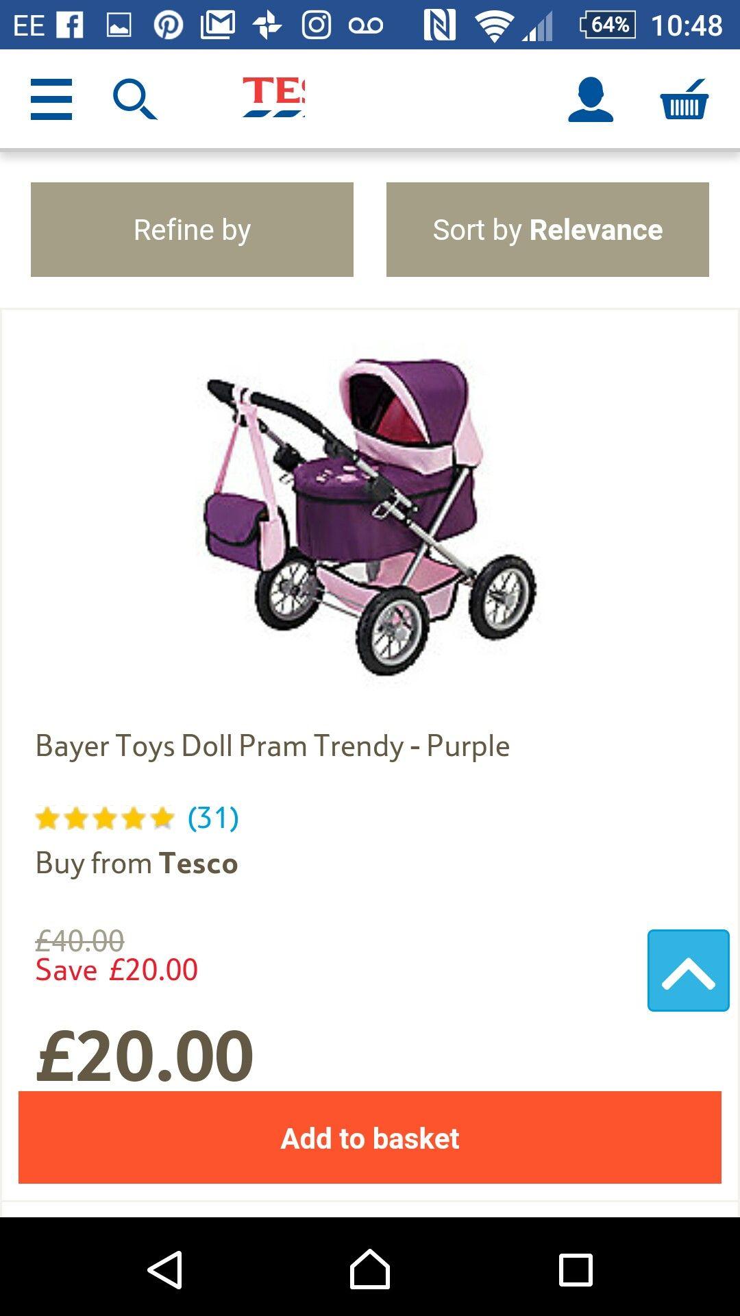 0afef09fae6 Tesco dolls pram £20 | Christmas gifts 2016 | Christmas gifts 2016 ...