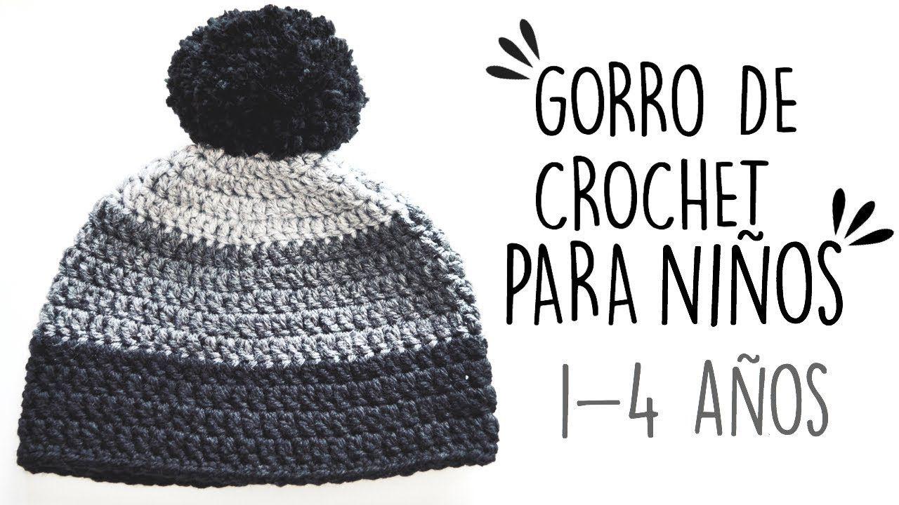 GORRO DE CROCHET PARA NIÑOS | 1- 4 AÑOS | Danii\'s Ways ♡ - YouTube ...