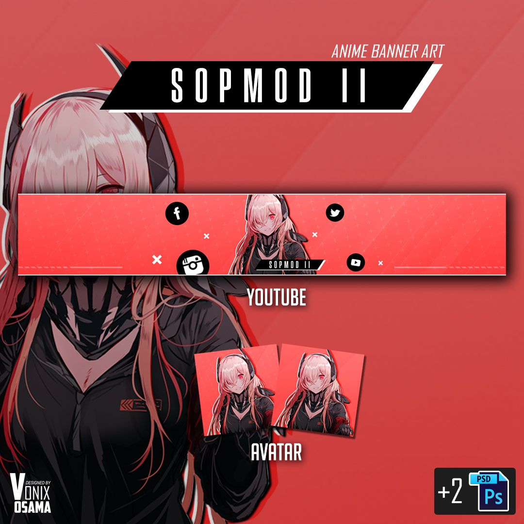 Sopmod II Girls Frontline ( Anime youtube banner ) You