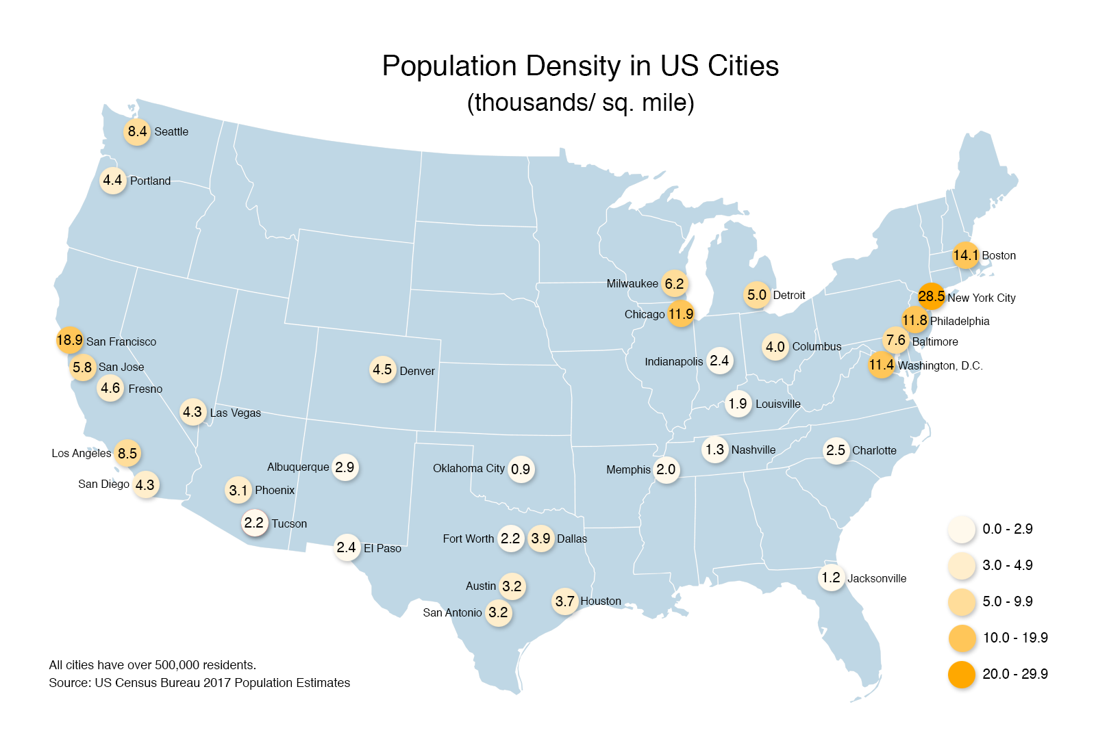 Map Of Us Cities By Population.Population Density Us Cities Population Density Maps Pinterest