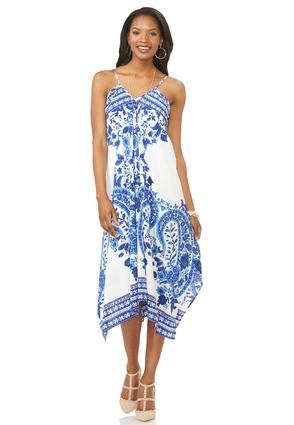5d8f7e0e25be Cato Fashions Bordered Paisley Hanky Hem Dress-Plus #CatoFashions ...