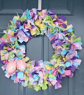 Cute Easter wreath.