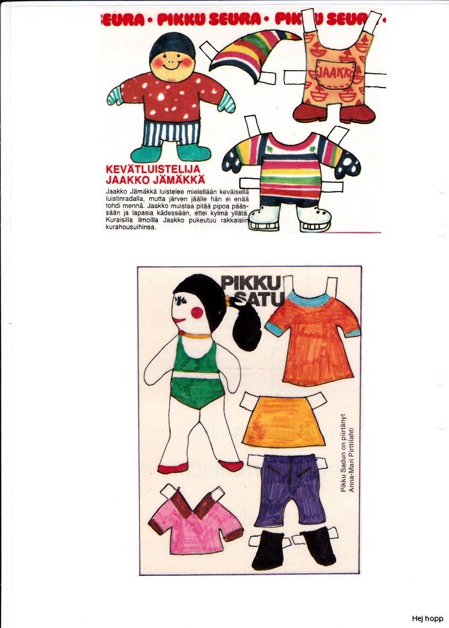 Finska Pärm 1 | Maggans nostalgiska klippdockor *1500 free paper dolls for Christmas at artist Arielle Gabriels The International Paper Doll Society and also free Asian paper dolls at The China Adventures of Arielle Gabriel *