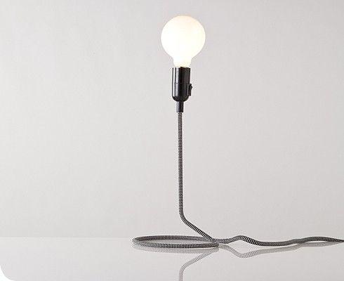 super minimal bedside lamp