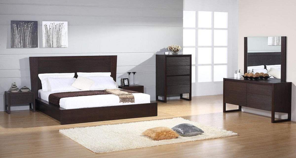 Elegant Wood Modern Design Bed Set Bedroom Sets Wood Bedroom