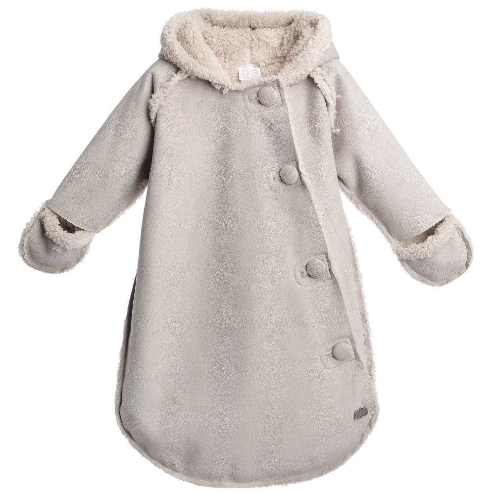 Beige Synthetic Sheepskin Baby Snowbag | Baby snowsuit, Kids s and ...
