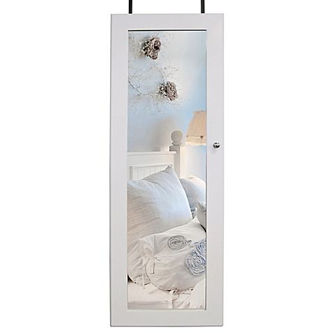 Add beautiful storage to a door or wall in any room of your home with the Over-the-Door Jewelry Cabinet. This attractive unit gives your jewelry collection and accessories a safekeeping place. A mirrored door and interior mirror make it extra useful.