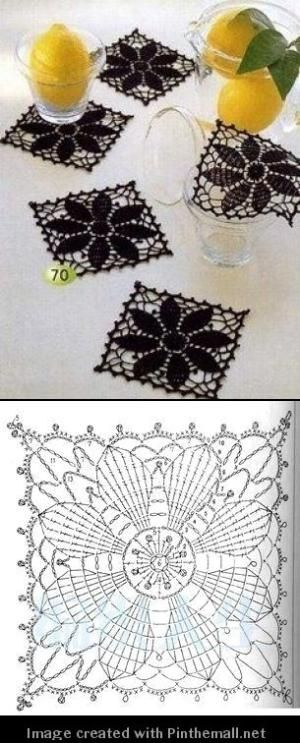 square crochet doily by rita | Crochet Granny | Pinterest ...